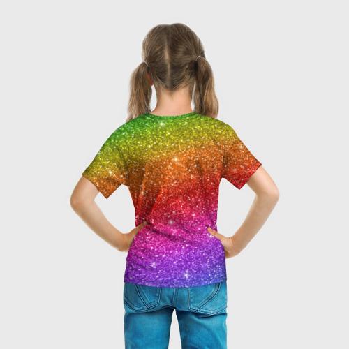Детская футболка 3D Блестки радуги Фото 01