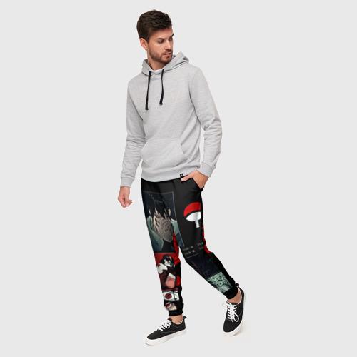 Мужские брюки 3D Клан Учиха Саске, Итачи, Мадар Фото 01
