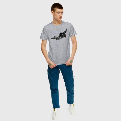 Мужская футболка хлопок Череп коровы Фото 01