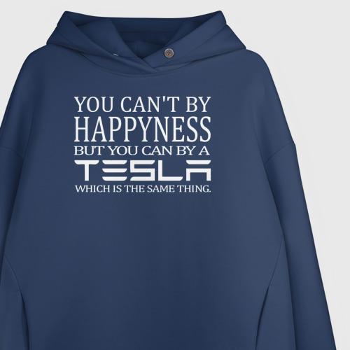 Женское худи Oversize хлопок Тесла = счастье Фото 01