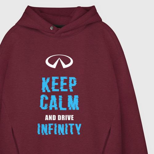 Мужское худи Oversize хлопок Keep Calm Infinity Фото 01
