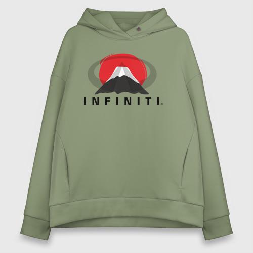 Женское худи Oversize хлопок Infiniti  Фото 01