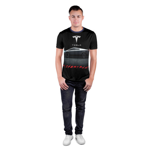 Мужская футболка 3D спортивная TESLA kibertruck Фото 01