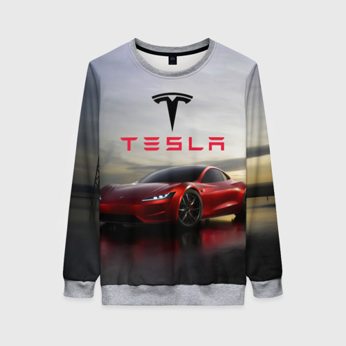 Женский свитшот 3D Tesla Roadster Фото 01