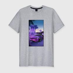Тесла в фиолетовом закате