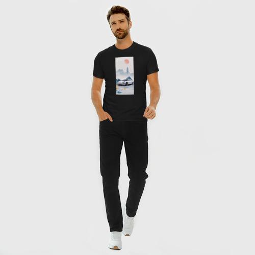 Мужская футболка хлопок Slim Тесла в японском стиле Фото 01