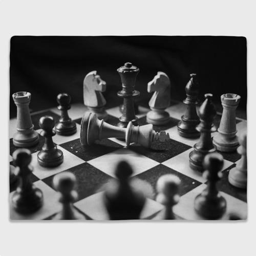 Плед 3D Шахматы фигуры доска ход мат Фото 01