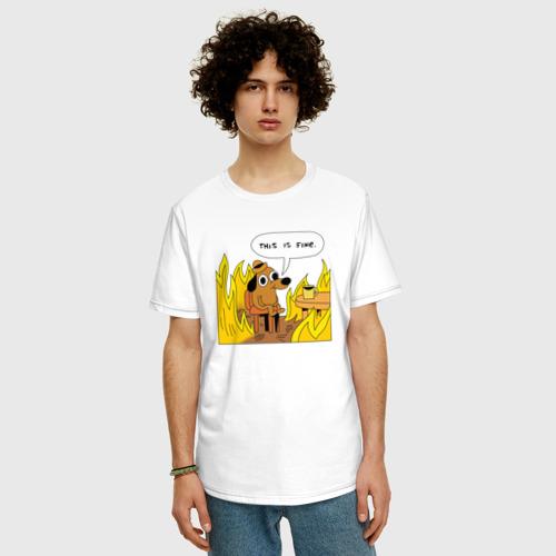 Мужская футболка хлопок Oversize This is Fine Фото 01