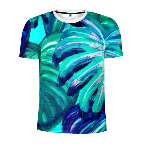 Мужская футболка 3D спортивная Пальмовая ветвь Фото 01