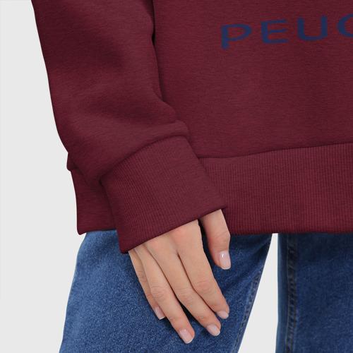 Женское худи Oversize хлопок Peugeot | Пежо (Z) Фото 01