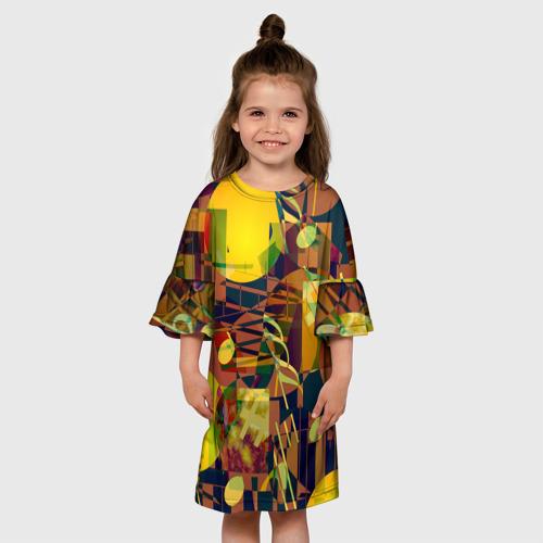 Детское платье 3D Музыкальный глитч Фото 01