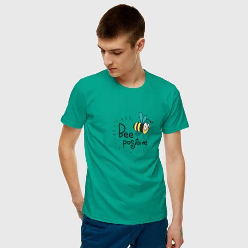 Мужская футболка хлопок Bee Positive / Будь позитивным Фото 01