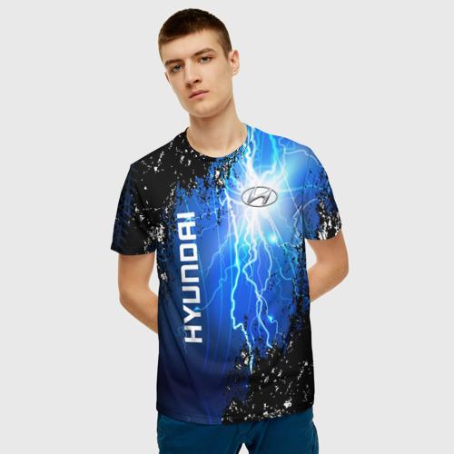 Мужская футболка 3D Hyundai Фото 01