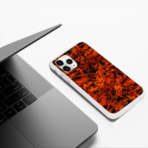 Чехол для iPhone 11 Pro Max матовый Пламя Фото 01
