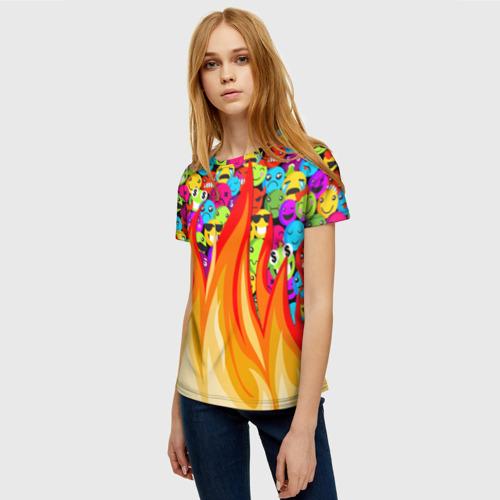 Женская футболка 3D SLAVA MARLOW - Смайлики Фото 01