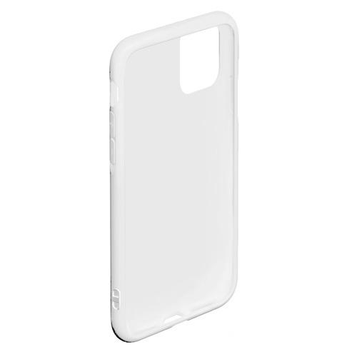 Чехол для iPhone 11 Pro Max матовый Зебра минимализм Фото 01