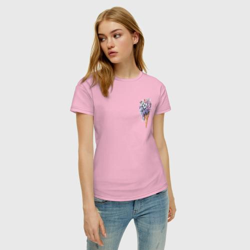 Женская футболка хлопок Цветочное мороженое Фото 01