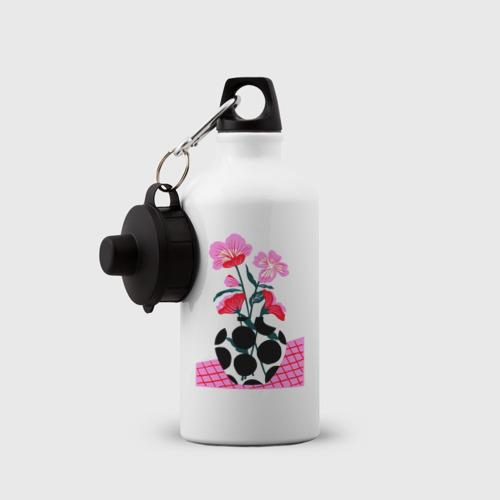 Бутылка спортивная цветы в вазе  Фото 01