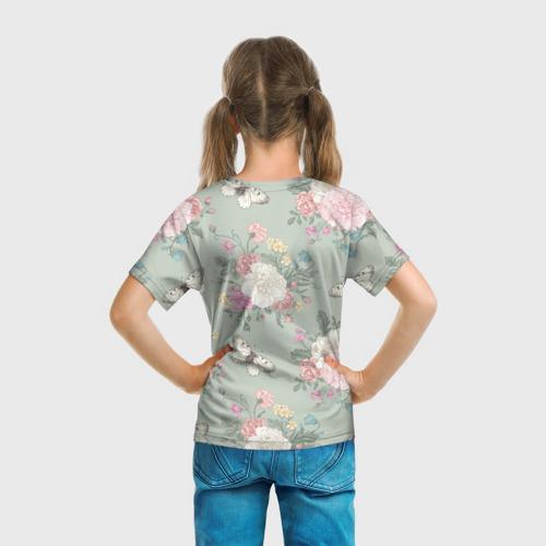 Детская футболка 3D бабочки в цветах  Фото 01