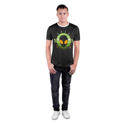 Мужская футболка 3D спортивная Зона 51 Фото 01