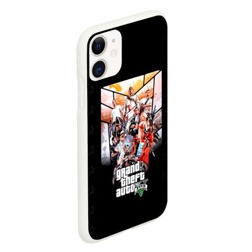 Чехол для iPhone 11 матовый Grand Theft Auto five Фото 01