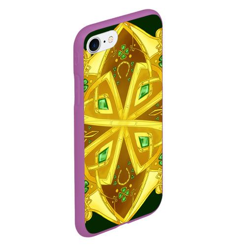 Чехол для iPhone 7/8 матовый Золотой клевер Фото 01