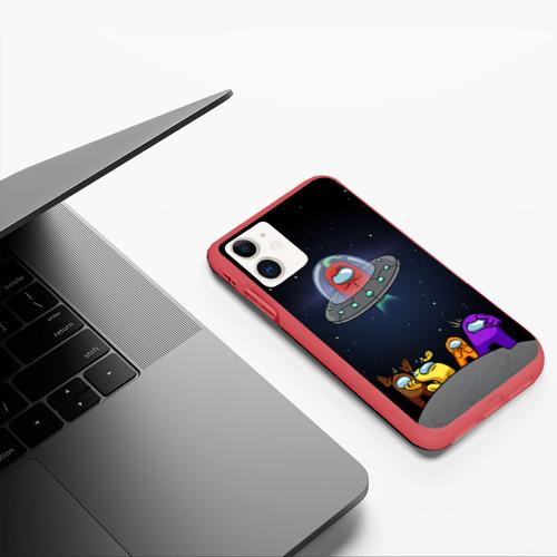 Чехол для iPhone 11 матовый Перец летит из Among Us Фото 01