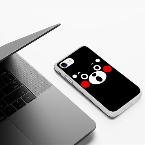 Чехол для iPhone 7/8 матовый Kumamon удивлен Фото 01
