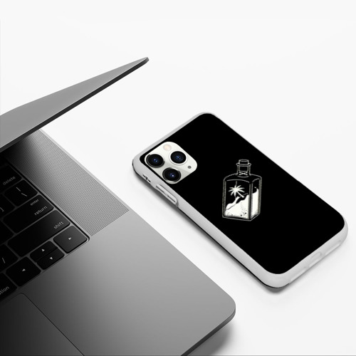 Чехол для iPhone 11 Pro матовый Дерево внутри бутылки Фото 01
