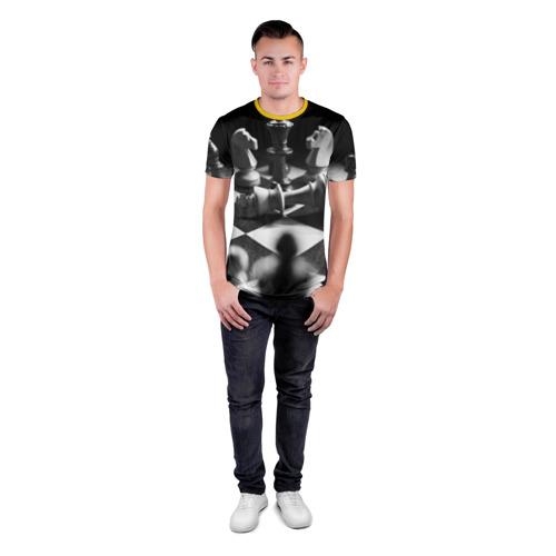 Мужская футболка 3D спортивная Шахматы Фото 01