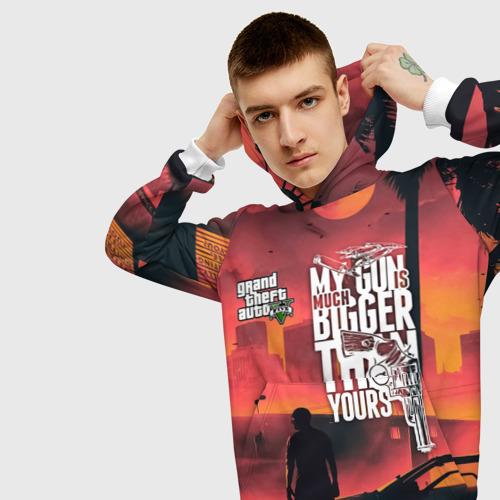 Мужская толстовка 3D MY GUN IS MUCH BIGGER THAN YOU Фото 01