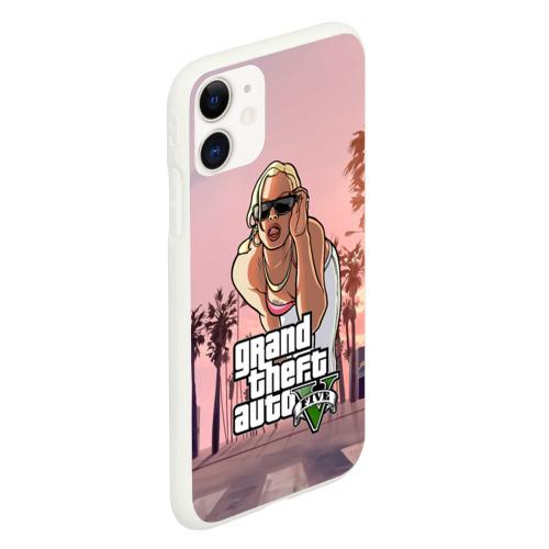 Чехол для iPhone 11 матовый Grand Theft Auto V девушка Фото 01