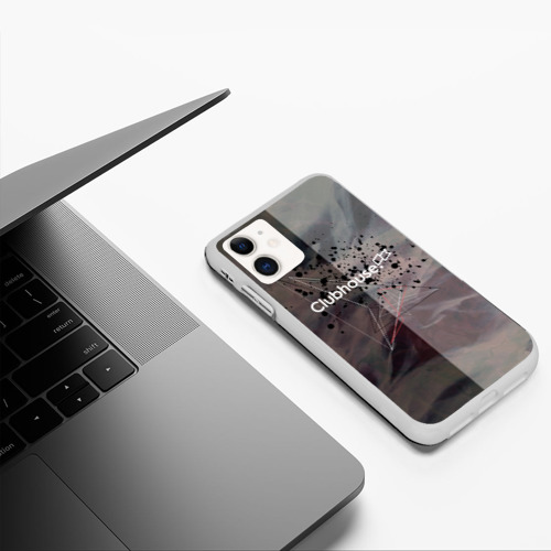 Чехол для iPhone 11 матовый Clubhouse | Клабхаус лого бразги Фото 01