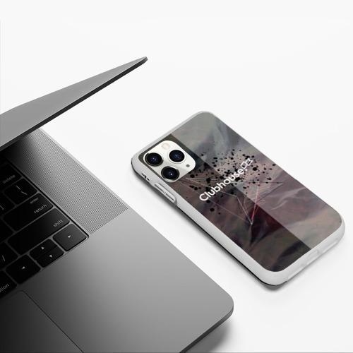 Чехол для iPhone 11 Pro матовый Clubhouse | Клабхаус лого бразги Фото 01
