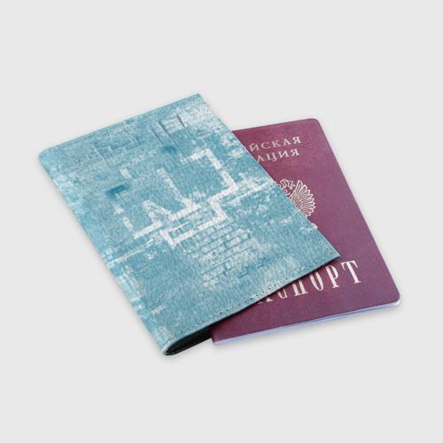 Обложка для паспорта матовая кожа Rammstein (стена) Фото 01