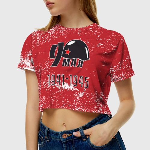 Женская футболка Crop-top 3D 9 мая Фото 01