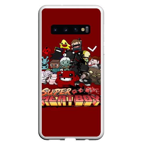 Чехол для Samsung Galaxy S10 Super meat boy Фото 01