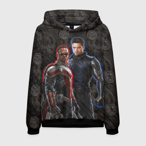 Мужская толстовка 3D Сокол и Зимний солдат. Marvel Фото 01