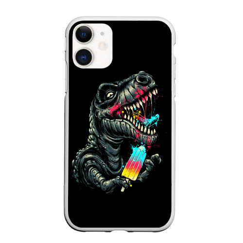 Чехол для iPhone 11 матовый T-REX ЕСТ МОРОЖЕНОЕ  Фото 01
