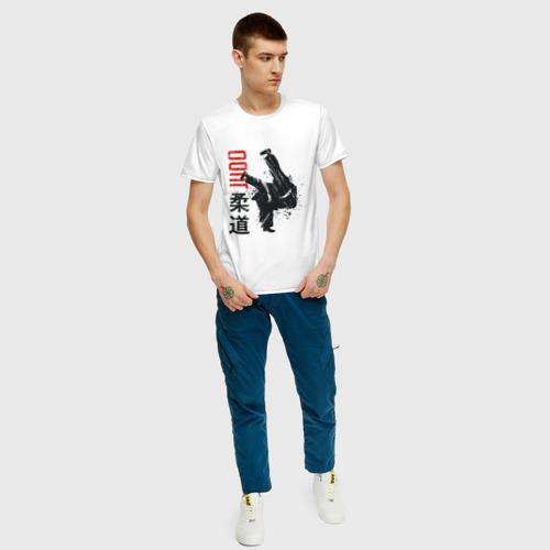 Мужская футболка хлопок Дзюдо Фото 01