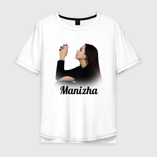 Мужская футболка хлопок Oversize Манижа \ Manizha Фото 01