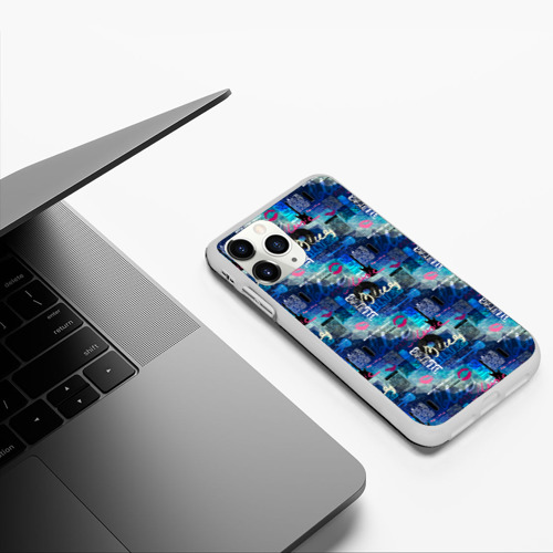 Чехол для iPhone 11 Pro матовый Blues Фото 01