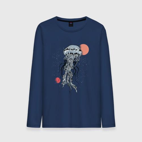 Мужской лонгслив хлопок Космическая медуза Фото 01