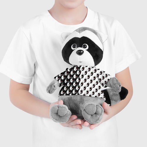 Игрушка Енотик в футболке 3D MONOKUMA \ МОНОКУМА PATTERN Фото 01