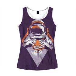 Космонавт ест бургер