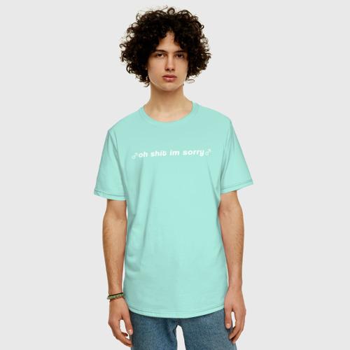Мужская футболка хлопок Oversize OH SHIT IM SORRY Фото 01