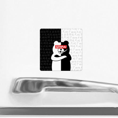 Магнит виниловый Квадрат monokuma senpai Фото 01