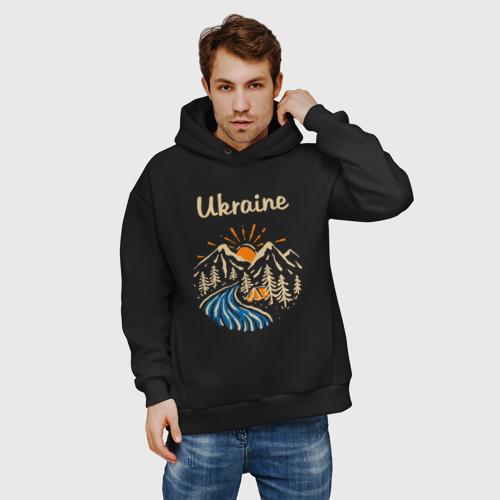 Мужское худи Oversize хлопок Ukrane (Украина) Фото 01