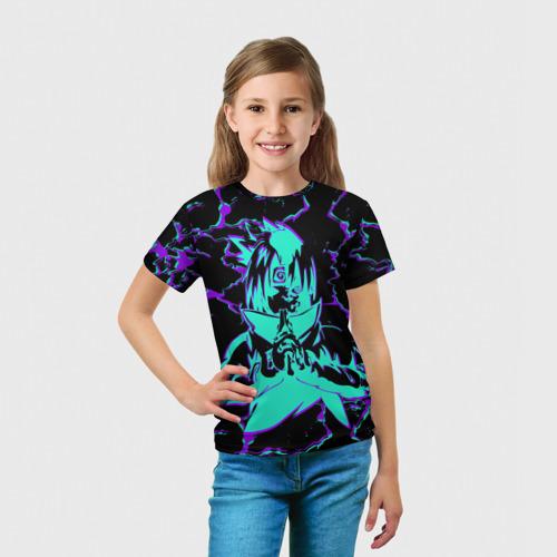 Детская футболка 3D Саске | Глитч Фото 01