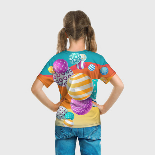 Детская футболка 3D Мячики Фото 01